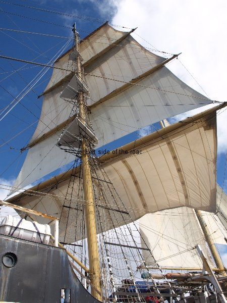 A tall ship under sail off the Bay of Biscay, March 2013