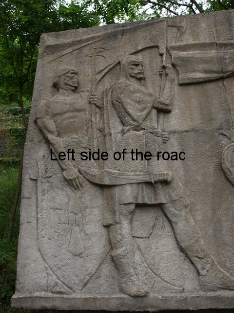 Bas-relief of Skenderbeu in Gjirokaster