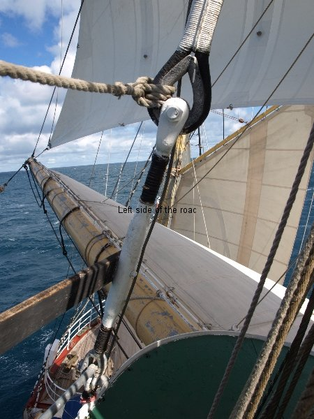 View from main mast