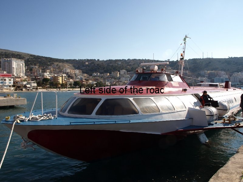 Fast ferry Kristi from Corfu in Saranda Albania port 1