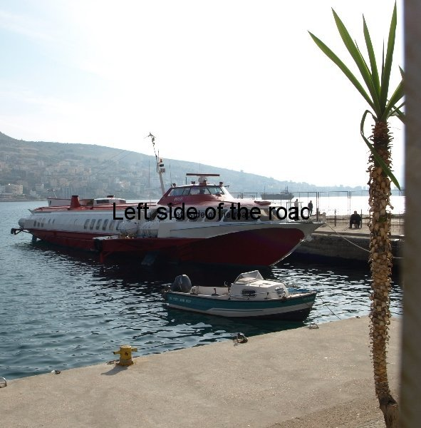 Fast ferry Kristi from Corfu in Saranda Albania port 3