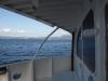 Corfu from back of Saranda bound fast ferry Kristal