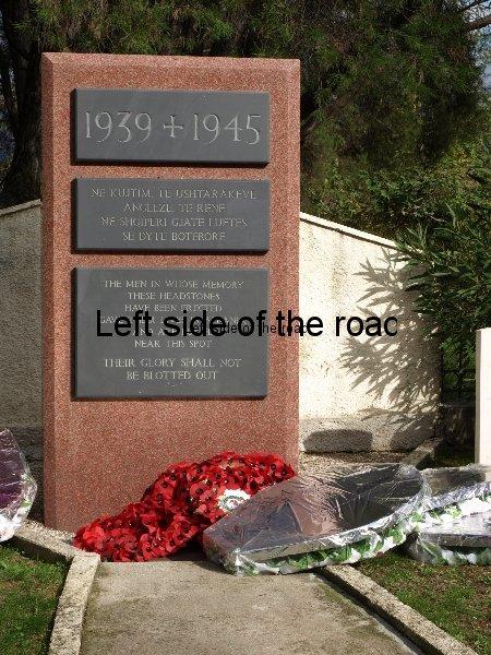 Memorial Stone English Cemetery Tirana Albania