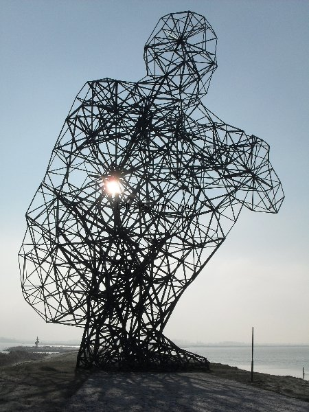 Exposure by Antony Gormley in Lelystad, north Holland