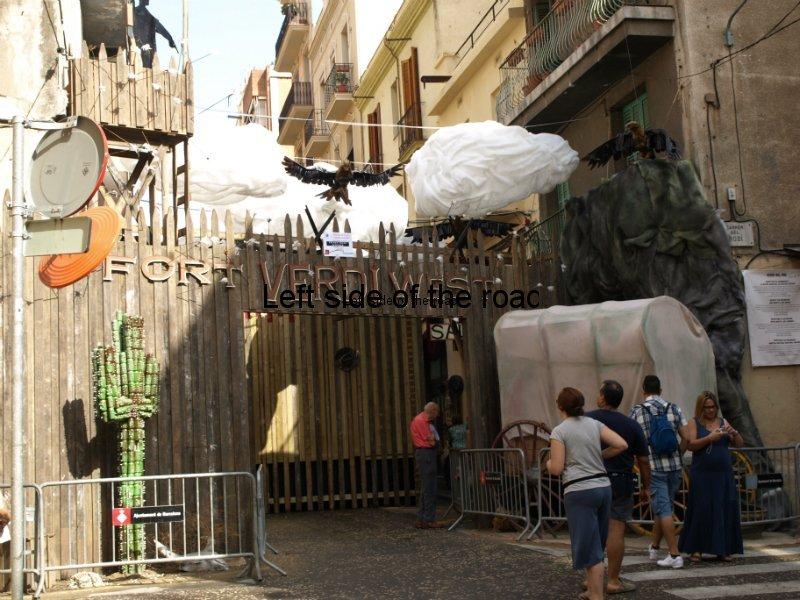 Verdi -Carrers Guarnits, Gracia, Festa Major, Barcelona, 2012