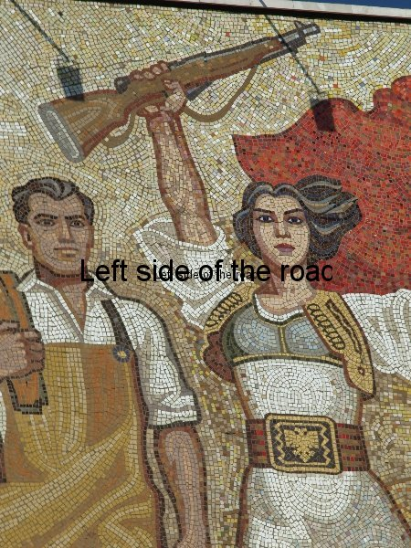 'The Albanians' - Mosaic on National Historical Museum, Tirana