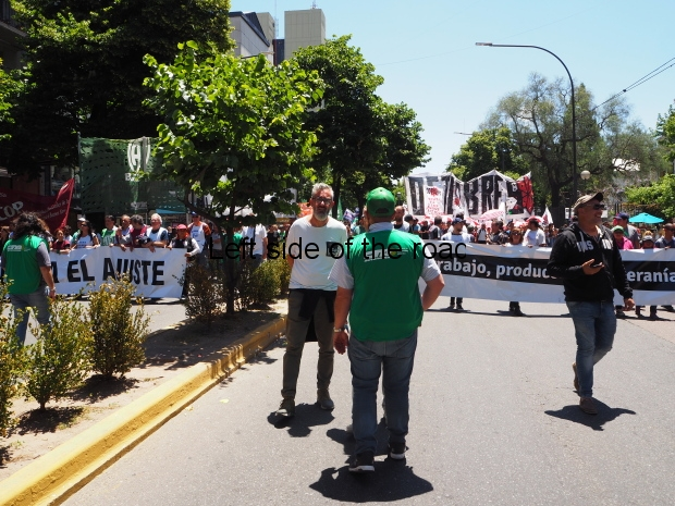 Teachers' union meeting and general demonstration in La Plata Monday 3rd December 2018