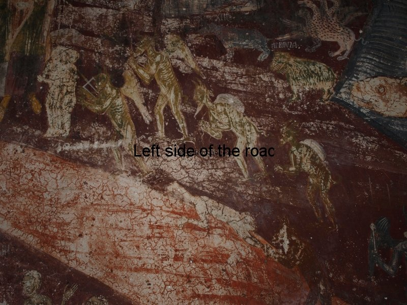 Hell, as depicted in the Monastery Church of Panagia (Mother of Christ) in Dhermi