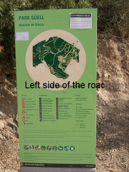 Information Board Parc Guell