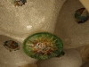 Ceiling mosaic, lower hall - Parc Guell, Barcelona