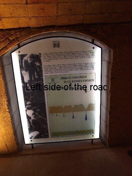 San Andria de Besos Placeta de Macia air raid shelter