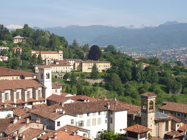 Orobia Mountains from Citta Alta