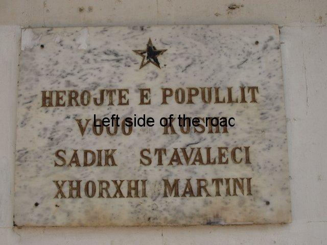 Vojo Kushi, Sadik Stavaleci and Xhoxhi Martini